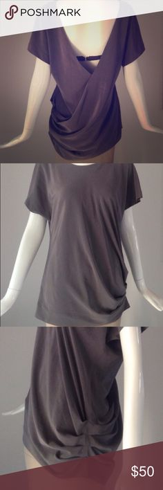 Elizabeth and James silk-mix top In heavy silk/synthetic mix, with side pleat detail and exposed back. Silk lining. Looks and feels super luxe, and in flawless condition! Elizabeth and James Tops