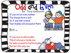 Odd and Even...the kids love it! I hear them quietly singing it to themselves...