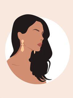 Japon Illustration, Illustration Art Drawing, Portrait Illustration, Art Drawings, Makeup Illustration, Woman Illustration, Grafic Art, Illustration Inspiration, Afrique Art