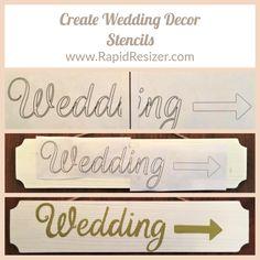 Home Printers, Stencils, Wedding Decorations, Create, Inspiration, Biblical Inspiration, Templates, Stenciling, Inhalation