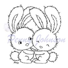 Two cute rabbits (4 pack)