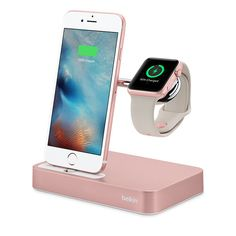 2 Belkin Valet Charge Dock for Apple Watch + iPhone If Jr. has an iPhone and Apple Watch, he'll need to keep them charged and ready to go for school the next day. This streamlined charger duo from Belkin charges both devices simultaneously and eliminates unsightly cords. Available in silver and rose gold. Belkin Valet Charge Dock for Apple Watch + iPhone, Apple, $144.95.