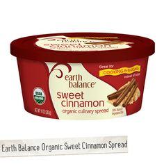 Earth Balance® Organic Sweet Cinnamon Spread | Made Just Right by Earth Balance #vegan #earthbalance