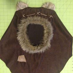 Limited Edition Dark Brown Wicket inspired Ewok hood : I will be making a limited supply of these ready for shipment in time for Halloween