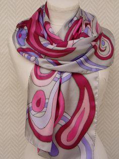 Scarf shawl scarf Burgundy and purple scarf My