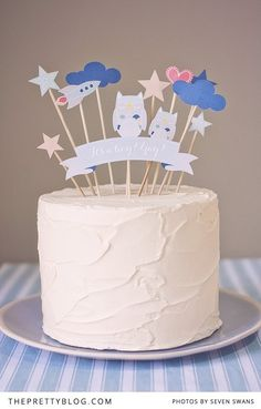 Create a scene or simply decorate a cake with these cute printable cake toppers   Photography by Seven Swans