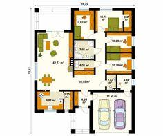 Projekt domu Decyma 9 - rzut parteru
