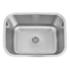 "24"" Infinite Rectangular Stainless Steel Undermount Bar Sink"