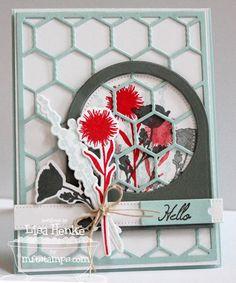 Peaceful Wildflowers; Wildflowers Die-namics; Chicken Wire Die-namics; Blueprints 3 Die-namics - Lisa Henke