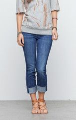 Citizens Dani Cropped Straight Leg Jeans in Envy