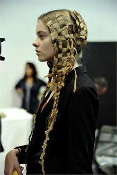 just when I was getting bored of braids...this pops up!! Love it!!!  ~Alexander McQueen Braids