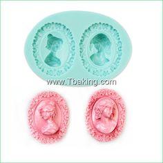 Encontre mais Forma de bolo Informações sobre Tc grátis frete bolo Silicone moldes mulher cabeça forma Mould, de alta qualidade Forma de bolo de Cake Tools Supplier em Aliexpress.com