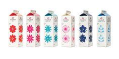 Envoltorio leche. Botella brick. Milk packaging design
