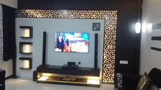 Here you will find photos of interior design ideas. Get inspired! Lcd Unit Design, Lcd Wall Design, Modern Tv Unit Designs, Pvc Ceiling Design, Tv Unit Interior Design, Tv Unit Furniture Design, Modern Tv Wall Units, Living Room Tv Unit Designs, Ceiling Design Living Room