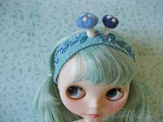 Woodland Mushrooms headband for Blythe