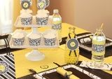 color schemes, baby shower ideas, bee, babi shower, baby showers