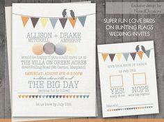 love birds printable wedding invitations