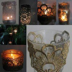 Pomysły plastyczne dla każdego DiY - Joanna Wajdenfeld: Lampiony z metalicznej i świecącej koronki