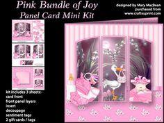 Pink Bundle of Joy Panel Card Mini Kit on Craftsuprint - View Now!