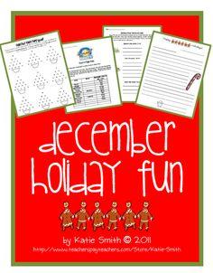 Classroom Freebies Too: December Holiday Fun Activities