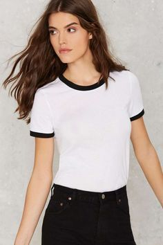 Glamorous Easy Baby Ringer Tee - Navy | Shop Clothes at Nasty Gal!