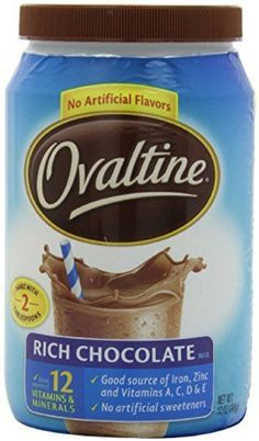Ovaltine Rich Chocolate Nutritional Beverage Mix (Pack of 2) 12 oz Size by Ovaltine -- Awesome products selected by Anna Churchill