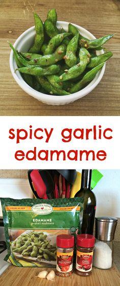 Spicy Garlic Edamame | Sometimes-Homemade.com