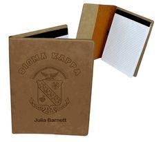 Sigma Kappa Leatherette Portfolio by greekgearcom on Etsy