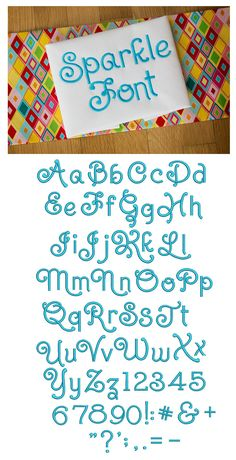 Sparkle Embroidery Font Designs by JuJu Exclusive