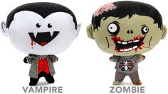 Feasting plush Vampire or Zombie with real slurping or chomping sounds when pressed against your flesh!