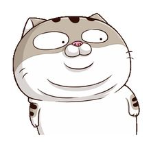 LINE Creators' Stickers - A cute little cat is so (EN) Example with GIF Animation Fat Cat Gif, Fat Cats, Cute Love Memes, Cute Love Gif, Cute Cartoon Images, Cartoon Gifs, Chibi Cat, Cute Chibi, Cute Animal Drawings