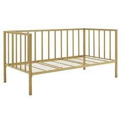 Willa Arlo Interiors Elof Twin Daybed & Reviews | Wayfair Twin Daybed With Storage, Pop Up Trundle, Metal Daybed, Pull Out Sofa Bed, Trundle Mattress, Modern Daybed, Hillsdale Furniture, Shop Interiors, Bed Sizes