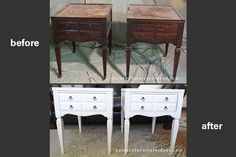 How to paint vintage wood furniture.