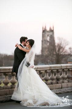 bride and groom in front of cathedral | Cairnwood Estate Wedding | Femina Photo + Design (feminaphoto.com)