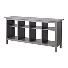 IKEA - HEMNES, Console table, white stain, , Solid wood has a natural feel.8 compartments in two different sizes. Convenient storage for books, magazines, accessories, etc.