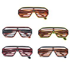 fea43cd0fe Control de sonido Flash EL Alambre Gafas Neon luz LED Arma de persiana para  obturador Gafas