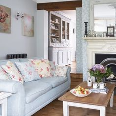 Pretty pastel living room | Vintage decorating idea | Country cottage style | Image | Housetohome