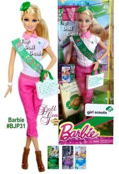 Girl Scout Barbie FROM: The Doll Genie - Barbie Dolls, Prettie Girls Dolls, Monster High Dolls, Ever After High Dolls, Silkstone Barbies, Skipper, Ken Dolls