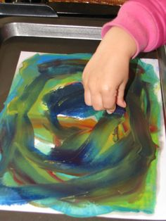 melted crayon drawings