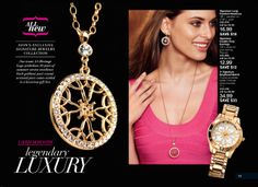 AVON'S EXCLUSIVE SIGNATURE JEWELRY COLLECTION - LAVISH MOM WITH LEGENDARY LUXURY.  Each goldtone pave crystal piece (Long Pendant Necklace, Double Drop Earrings or Boyfriend Watch)  comes nestled in a luxurious gift box.   Available at www.youravon.com/jfreemyers; Enter Code WELCOME at checkout to receive 20% OFF your order of $50 or more.  Direct delivery, single use only.