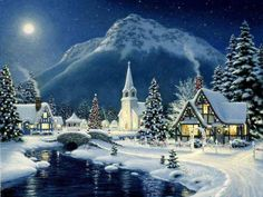 christmas villages christmas art christmas town christmas pictures winter christmas