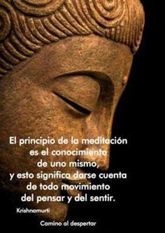 ... El principio de la meditación es el conocimiento de uno mismo, y esto significa darse cuenta de todo movimiento del pensar y del sentir. Krishnamurti. #PilatesFrasesespanol