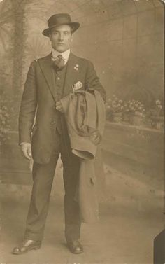 My maternal grandfather, a simple railroad worker, who wore a tie every day of his life, Giuseppe Via, just arrived from Calabria Italy. Dressed like royalty.