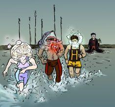 "atleastweweretogether: "" the second task fleur & viktor & cedric (& harry, i guess) for wizardingwednesday """