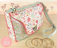 Sweet Quilted Front Flap Purse with Decorative Lock: Dritz® Sewing Supplies | Sew4Home