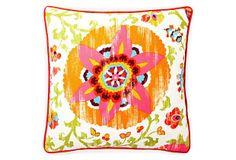 Petals 20x20 Outdoor Pillow, Red on OneKingsLane.com