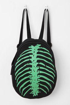 Deena & Ozzy Skeleton Spine Glow-In-The-Dark Backpack