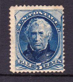 USA Scott #179 1875 5c Zachary Taylor blue MLH OG CV$700