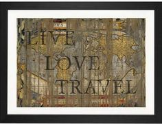 East Urban Home 'Live Love Travel' by Diego Trigall Graphic Art Print Format: Black Frame,  Best Love Quotes - beautiful love quotes and best love quotes ever.