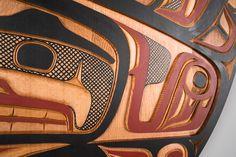 Received this week: Tsimshian style Red Cedar Sea Monster Panel by Salish Squamish artist Jim Charlie